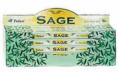 Tulasi Sage Incense - 8 Sticks Pack (25 Packs Per Box)