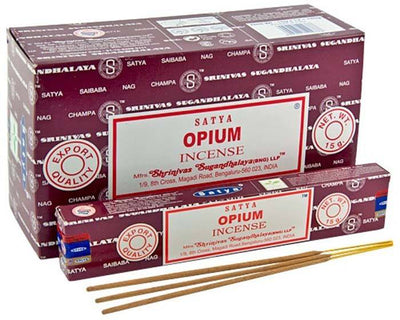 Satya Opium Incense - 15 Gram Pack (12 Packs Per Box)