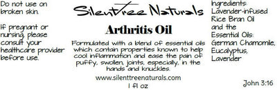 Arthritis Oil - .5 or 1 fl oz - Natural Health For Pain, Inflammation, Puffy, Swollen Joints, Free Shipping
