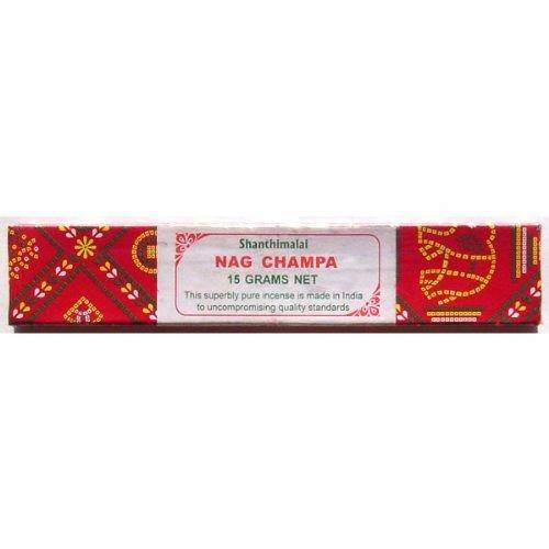 Shanthimalai Nag Champa - 15 Gram Red Box - Sold in Sets of 4 Boxes