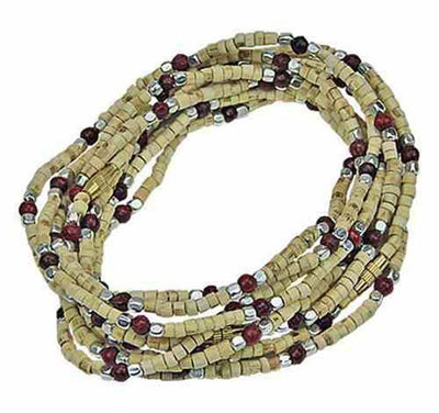 3MM Tulasi Wood Neck Beads - 16'L