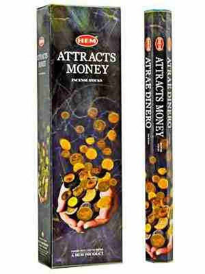 "Hem Attract Money 16""L Jumbo Sticks - 10 Sticks (6 Packs Per Box)"
