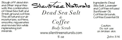 Dead Sea Salt & Coffee Body Scrub - Natural Skincare, Salt Scrub, Organic Coffee Scrub, Mineral-Rich Scrub, Natural Products, Free Shipping