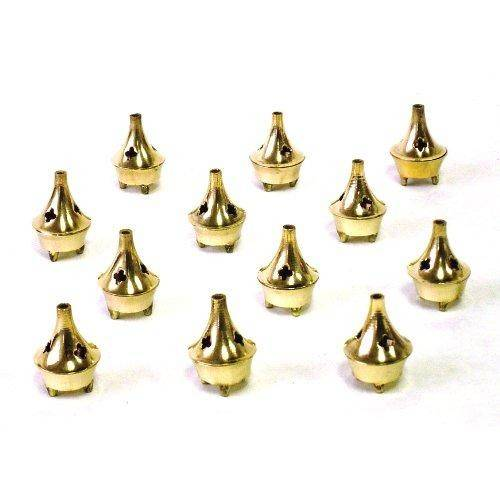 Cone Incense Holder - Small Brass - 1 1/2 Tall - Sold as a Set of 6