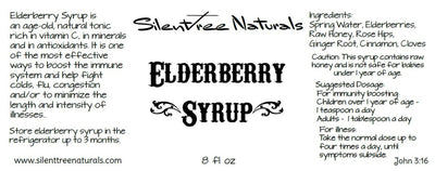 Elderberry Syrup-Natural and Organic, 4 or 8 fl oz, Herbs, Spices, High Vitamin C, Vitamin A, Raw Honey, Free Shipping