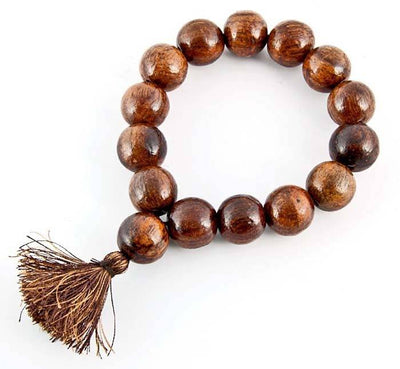 16mm Sheesham Wood Stretch Bracelet