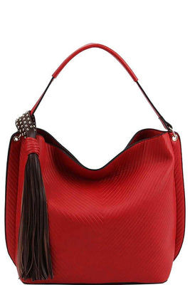 Trendy Chic Tassel Satchel With Long Strap