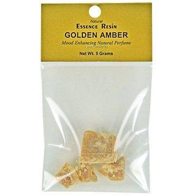 Golden Amber Essence Resin - 5 Gram Pack - Sold as a set of 3 Packs