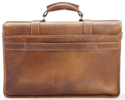 Korchmar Garfield F1005ES Leather Laptop Messenger Briefcase