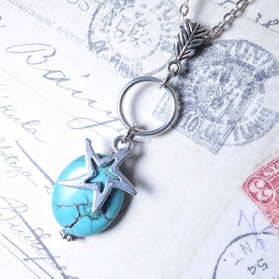 Turquoise Necklace With Star Charm