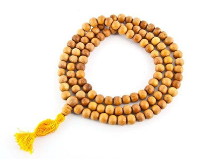 Tibetan Wooden Prayer Mala Fine - 8mm