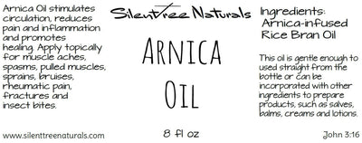 Arnica-infused Non-GMO Rice Bran Oil-Muscle Aches & Spasms, Pulled Muscles, Sprains, Bruises, Inflammation, Free Shipping