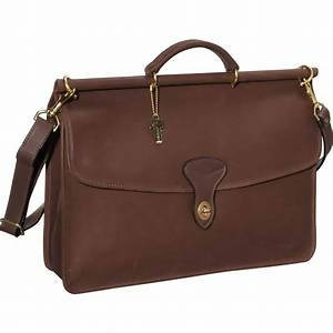 Jack Georges University 2452 Leather Dowel Top Briefcase