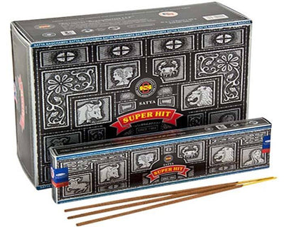 Satya Super Hit Incense - 40 Gram Pack (12 Packs Per Box)