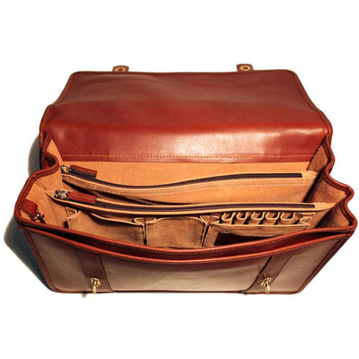 Jack Georges Belmont B2202 Bullhide Top Zip Briefcase