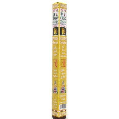Yellow Rose Incense - Primo Line - 25 gram triangle tubes - Sets of 4 tubes