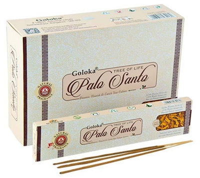 Goloka Palo Santo Incense - 15 Gram Pack (12 Packs Per Box)