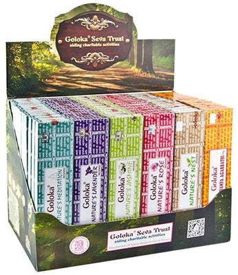 3 Goloka Nature's Series Incense Display Set - 72 Packs