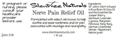 Nerve Pain Relief Oil - 1 fl oz - Natural Health, Natural Relief, Neuropathy, Neuralgia, Nerve Pain, Natural Products, Free Shipping