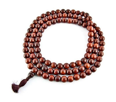 12mm Tibetan Red Sandalwood Superfine Prayer Mala - 108 Beads