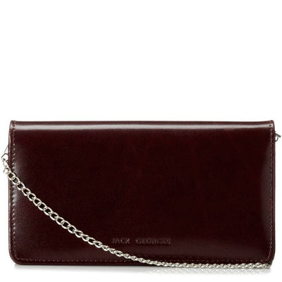 Jack Georges Milano 3722 Leather Clutch Wallet W/ Strap
