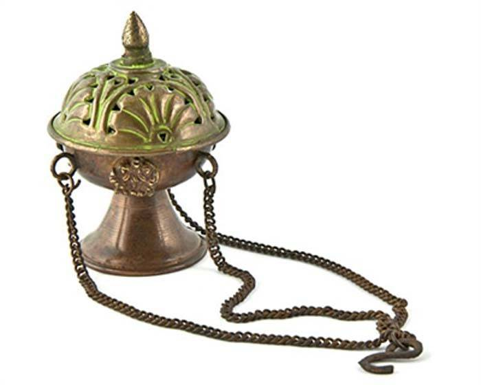 "Tibetan Hanging Censer Burner Antique - 3.5""H"