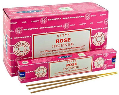 Satya Rose Incense - 15 Gram Pack (12 Packs Per Box)