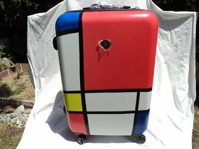 "NeoCover 1201B Primary Color 25"" 4 Wheeled Suitcase"