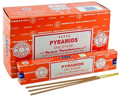 Satya Pyramids Incense - 15 Gram Pack (12 Packs Per Box)