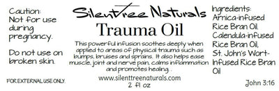 Trauma Oil-Herbal Pain Relief for Joints, Muscles, Nerves, Bruises, St. John's Wort, Arnica, Calendula, Free Shipping