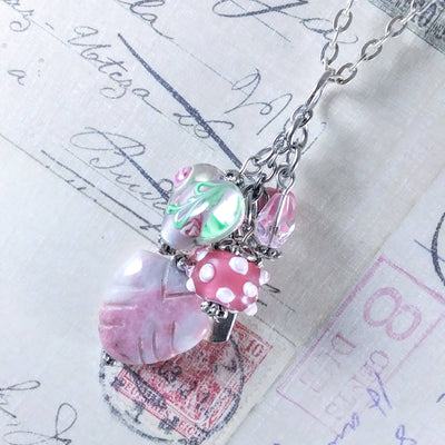Pink Multi Dangle with Necklace Trust Charm