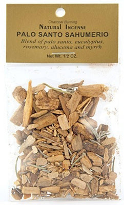 Palo Santo Sahumerio Incense - 1/2 Oz. Pack - Sold as a Set of 6 Packages