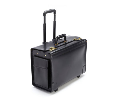 Korchmar C108420BL Litigator Leather Wheeled Catalog Case