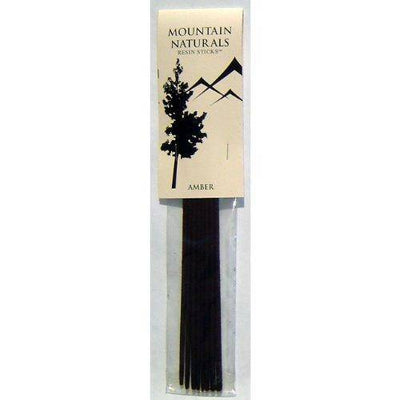 Incense Amber Resin Sticks Mountain Naturals - Package