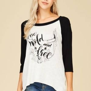 Wild and Free Ragland T-Shirt for Women