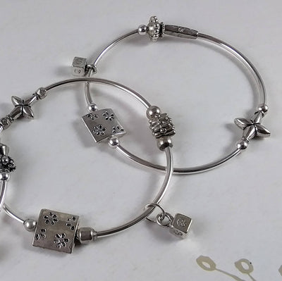 Funky Bracelet with Cube Dangle