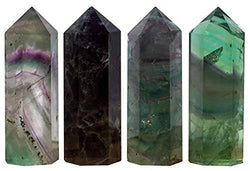 WHOLE LIFE Set of 4 Large Fluorite Points - Approx 3in / 76.2mm in Height