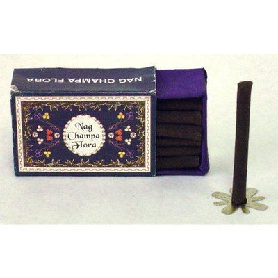Nag Champa Flora Dhoop - 18 Long Logs per Box - Sold in Set of 4 Boxes