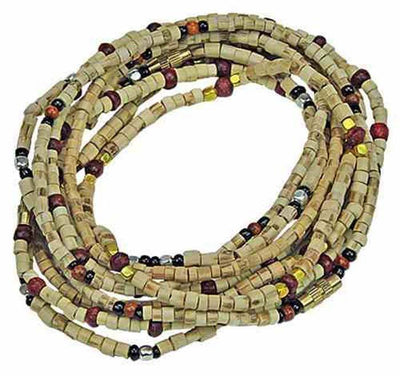 "3mm Assorted Tulasi Wood Neck Beads - 16""L (set of 5)"