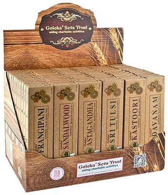 5 Goloka Organika Series Incense Display Set - 72 Packs
