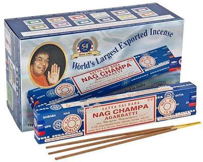 Satya Nag Champa Incense - 15 Gram Pack (12 Packs Per Box)