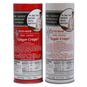 Two Tubes of Moravian Cookies (Ginger & Sugar)