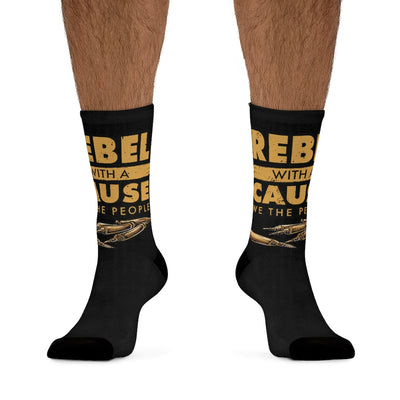 Rebel With A Cause Socks ( Black )