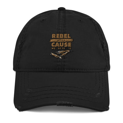 Rebel With a Cause Distressed Dad Hat