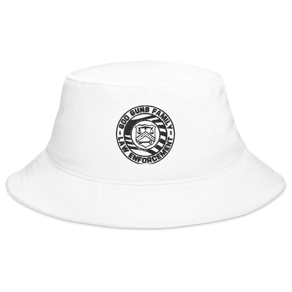 God Guns Family Law Enforcement Bucket Hat