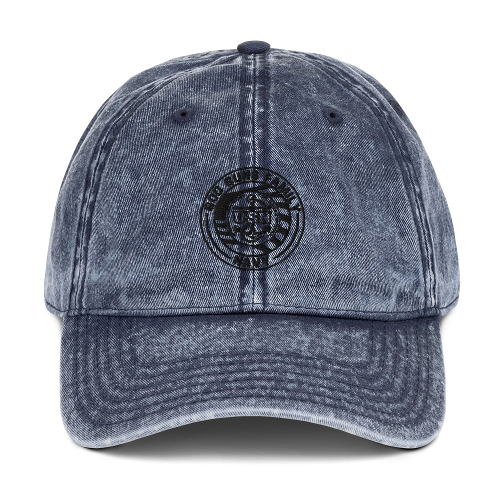 God Guns Family Navy Vintage Cotton Twill Cap