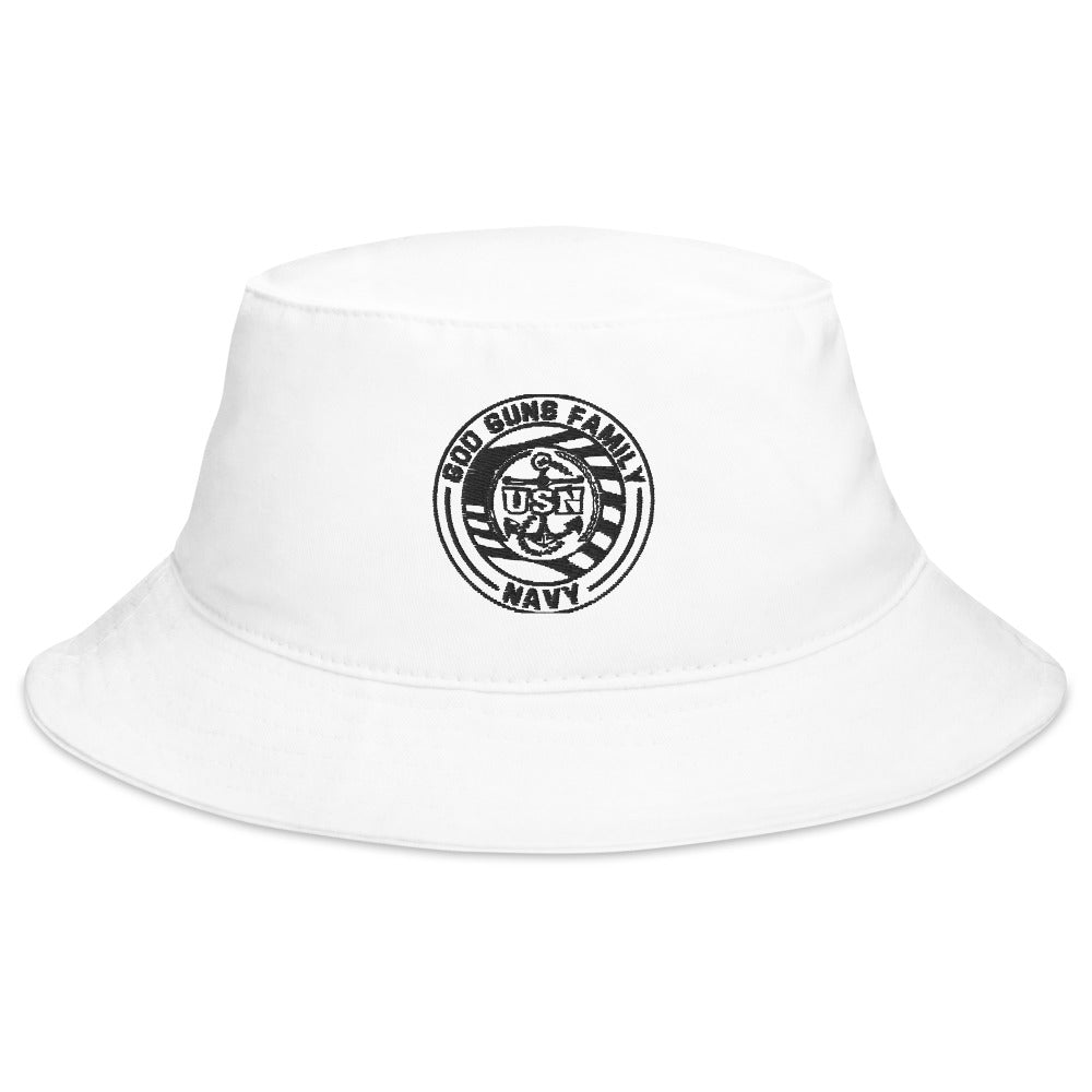 God Guns Family Navy Bucket Hat