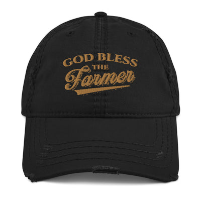 God Bless The Famer Distressed Dad Hat