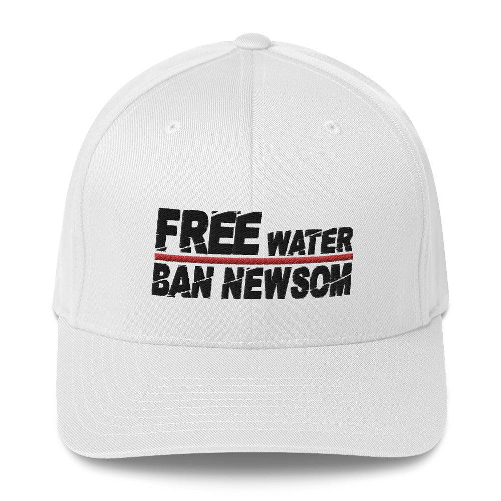 Free Water Ban Newsom Structured Twill Cap