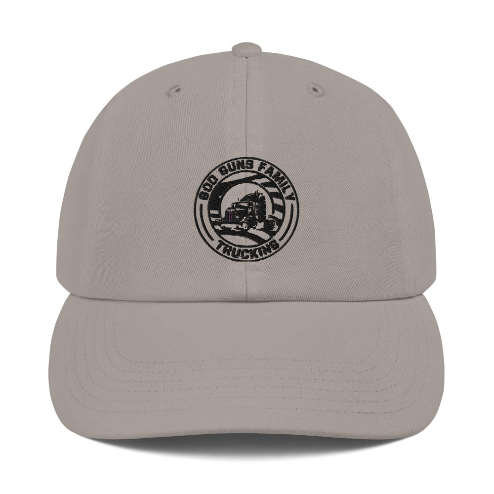 God Guns Family Trucking Champion Dad Cap